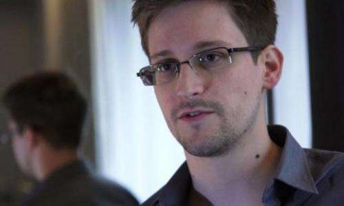 Frame grab recorded on June 6, 2013 shows Edward Snowden during an interview with The Guardian in Hong Kong