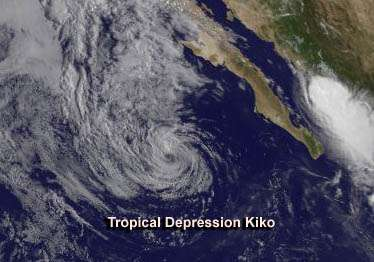 From birth to death in 4 days: Kiko now a remnant low