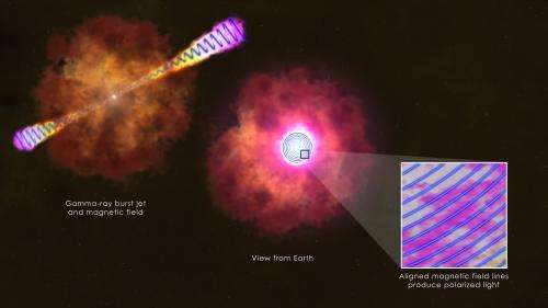 Glimpsing the infrastructure of a gamma-ray burst jet