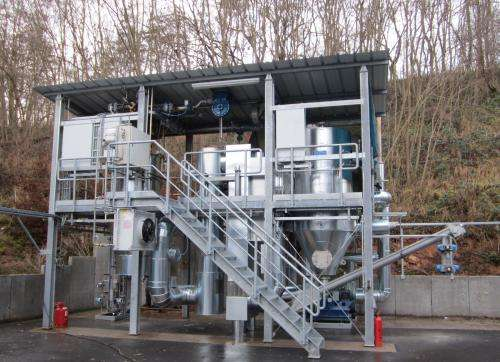 Hannover Messe: Heating with powder and plastic wastes