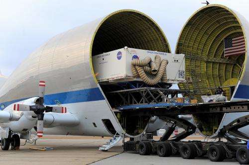 Heat shield for NASA's Orion spacecraft delivered to Kennedy Space Center
