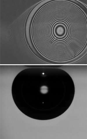 High-speed cameras reveal the complex physics at work as air meets water and glass