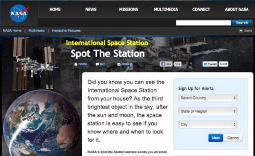 How to see the International Space Station