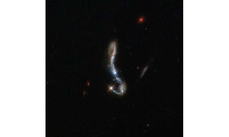 Hubble Sees Light and Dust in a Nearby Starburst Galaxy