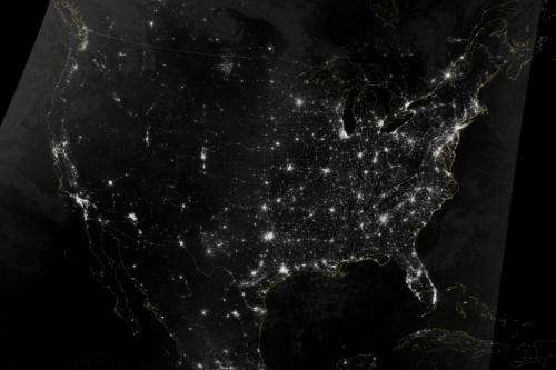 Image: U.S. holiday transportation web seen from orbit