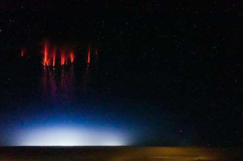 Is it a bird, a plane, a UFO?  It's a...red sprite