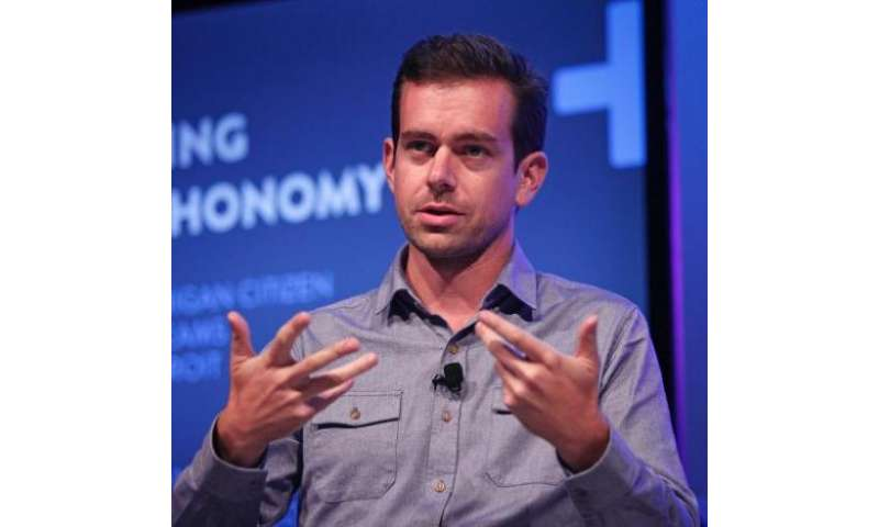 Jack Dorsey moderates a panel discussion at Wayne State University on September 17, 2013 in Detroit, Michigan