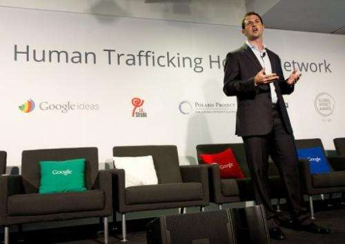 Jared Cohen, Director of Google Ideas, talks about technology's role in aiding anti-trafficking efforts on April 9, 2013