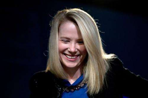 Marissa Mayer, CEO of Yahoo!, smiles on January 25, 2013 at the Swiss resort of Davos