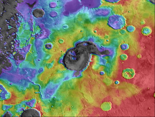 Mars crater may actually be ancient supervolcano