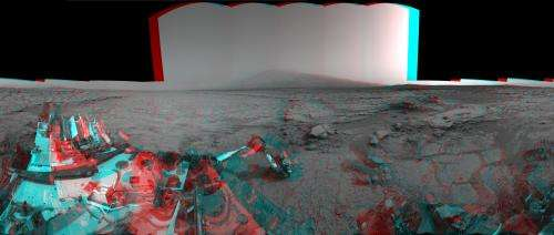 Mars Stereo View from 'John Klein' to Mount Sharp -- Raw