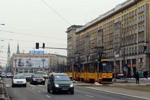 Marszalkowska street in Warsaw is pictured on March 21, 2013.