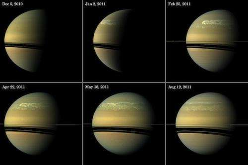 Massive storm pulls water and ammonia ices from Saturn's depths
