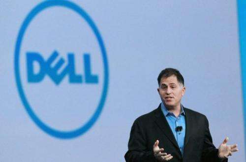 Michael Dell speaks during the 2010 Oracle Open World conference on September 22, 2010, in San Francisco, California