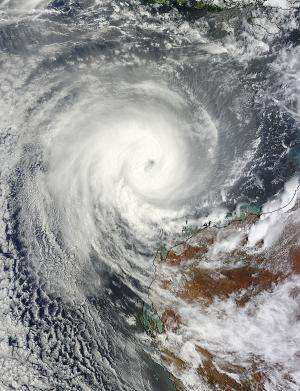 NASA gets an eyeful from major Cyclone Narelle affecting Western Australia