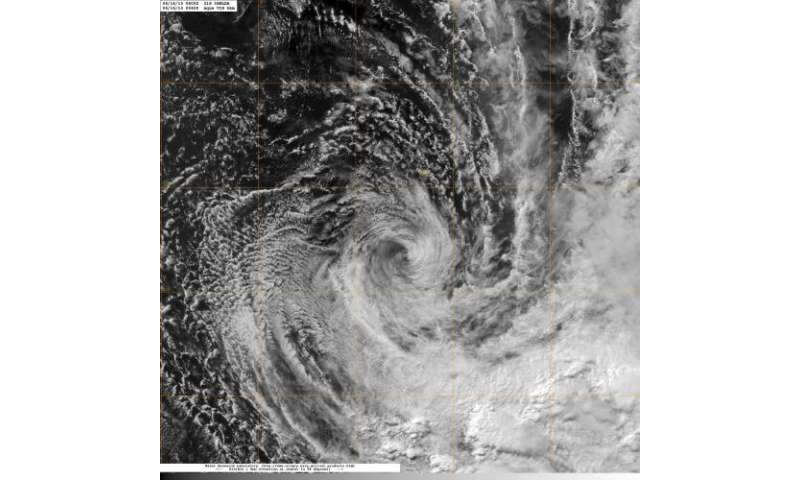 NASA imagery shows wind shear hammering Cyclone Imelda