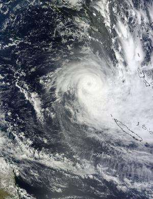 NASA satellites saw Cyclone Freda's widening eye