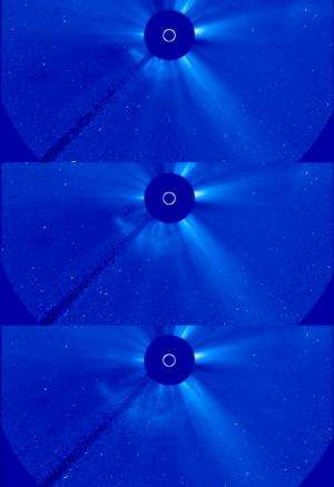 NASA sees a coronal mass ejection erupt from the sun