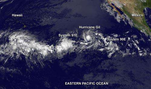 NASA sees a very active tropical Eastern Pacific Ocean