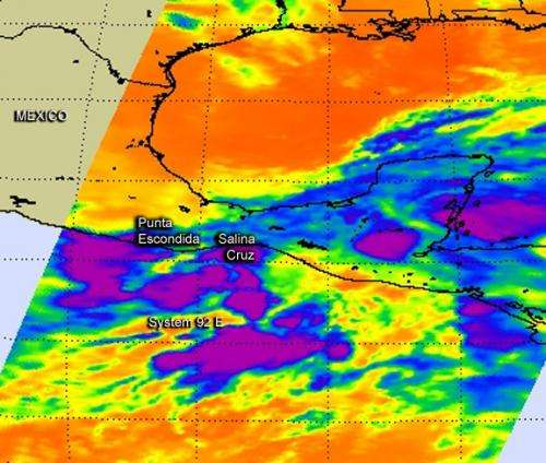 NASA sees developing tropical cyclone near southwestern Mexico