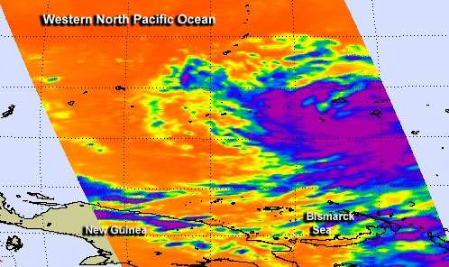 NASA sees strengthening Tropical Storm Haiyan lashing Micronesia