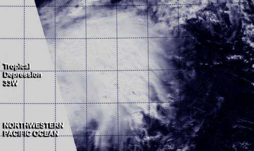 NASA sees thirty-third tropical depression form in Northwestern Pacific