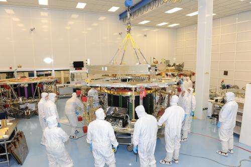 NASA's MMS team assembles final observatory