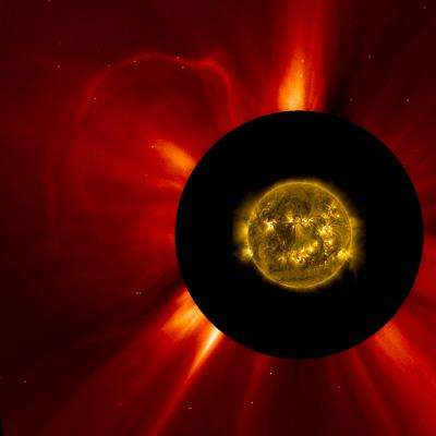 NASA's STEREO detects a CME from the sun