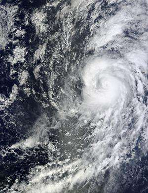 NASA's Terra satellite spots Hurricane Humberto's cloud-filled eye