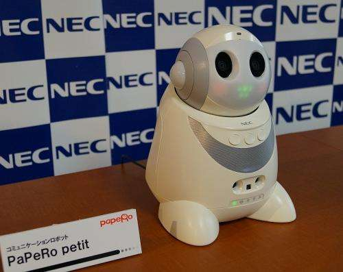 NEC introduces the PaPeRo petit robot