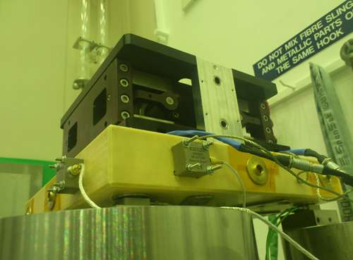 New microvibration excitation device currently being tested at European Space Agency space test centre