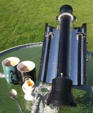 New Solar Kettle allows for boiling water off the grid