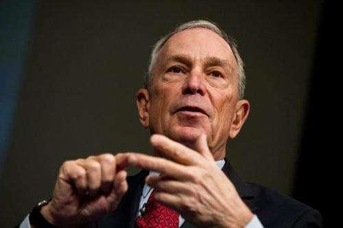 New York City mayor Michael Bloomberg, on January 18, 2013