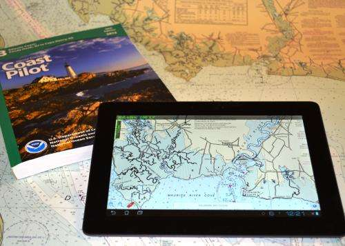 NOAA's latest mobile app provides free nautical charts for recreational boating