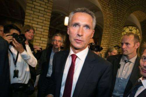 Norway's Prime Minister Jens Stoltenberg after a television debate, September 9, 2013 in Oslo, Norway
