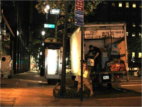 Off-hour truck deliveries in Manhattan reduce traffic, empower business owners
