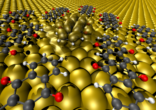 Organic electronics -- how to make contact between carbon compounds and metal