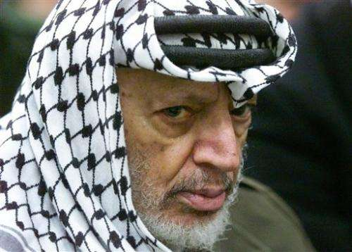 Possible evidence of Arafat poisoning is reported