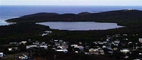 Puerto Rico's glowing lagoon goes nearly dark