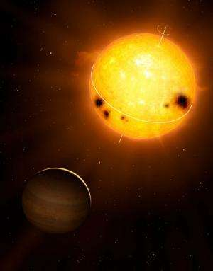 Pulsating star sheds light on exoplanet