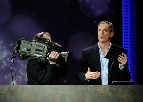 Qualcomm chief executive Paul Jacobs delivers a keynote address at the CES in Las Vegas on January 10, 2012