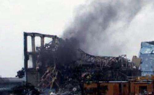 Reactor three at Japan's Fukushima nuclear power station following the March 2011 earthquake and tsunami