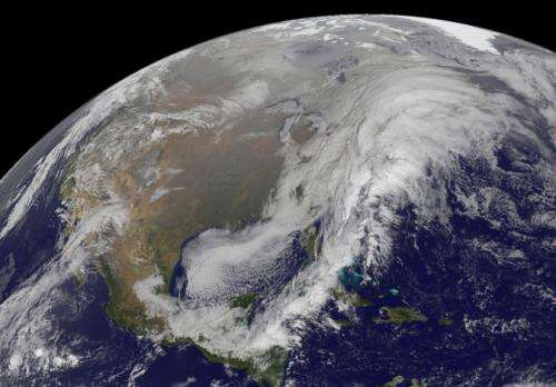 Satellite Movie Shows Difficult Eastern U.S. Thanksgiving Travel