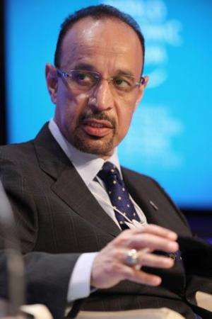 Saudi Aramco President Khalid Al Falih in Davos, Switzerland on January 28, 2010