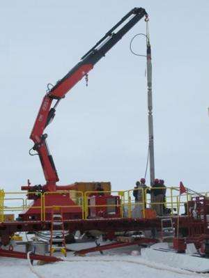 Scientists collect first intact samples from an Antarctic subglacial lake