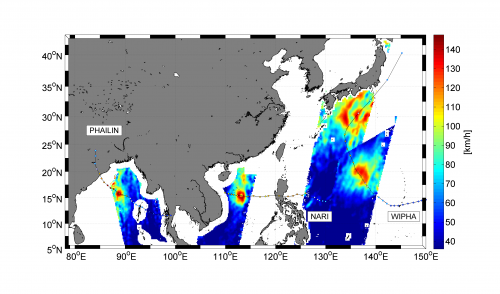 SMOS sees triple superstorms