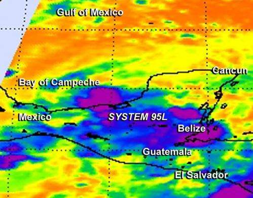 Southwestern Gulf System 95L Targeted by NASA's Global Hawk