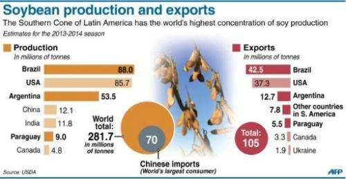 Soybean production and exports