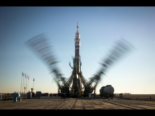 Soyuz Rocket Ready to Launch New Station Crew