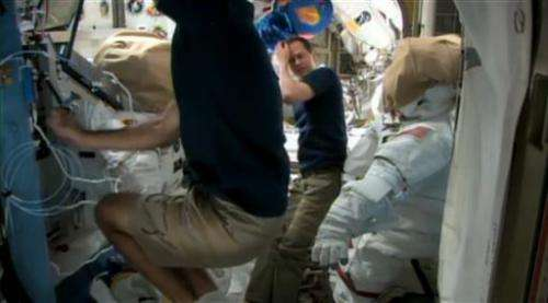 Spacewalkers to tackle leak at space station